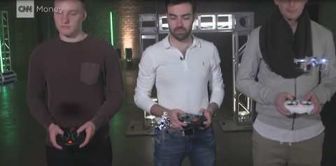 Star Wars Drone pilots promoting new drones